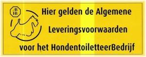 Algemene Leveringsvoorwaarden Sticker ABHB